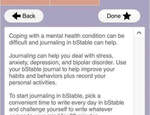 Daily Journaling in bStable Go!